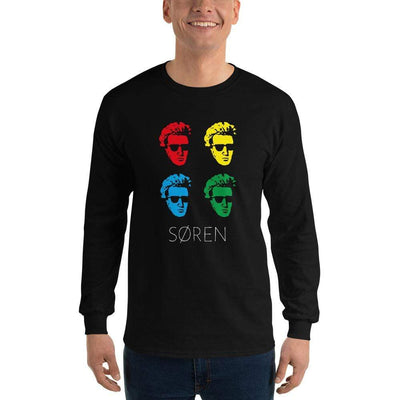 The Philosopher's Shirt Long-Sleeve Tee Soeren Kierkegaard Pop Art <br><br>Long-Sleeved Shirt