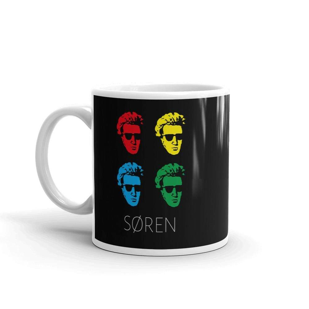 The Philosopher's Shirt Mug Soeren Kierkegaard Pop Art <br><br>Mug