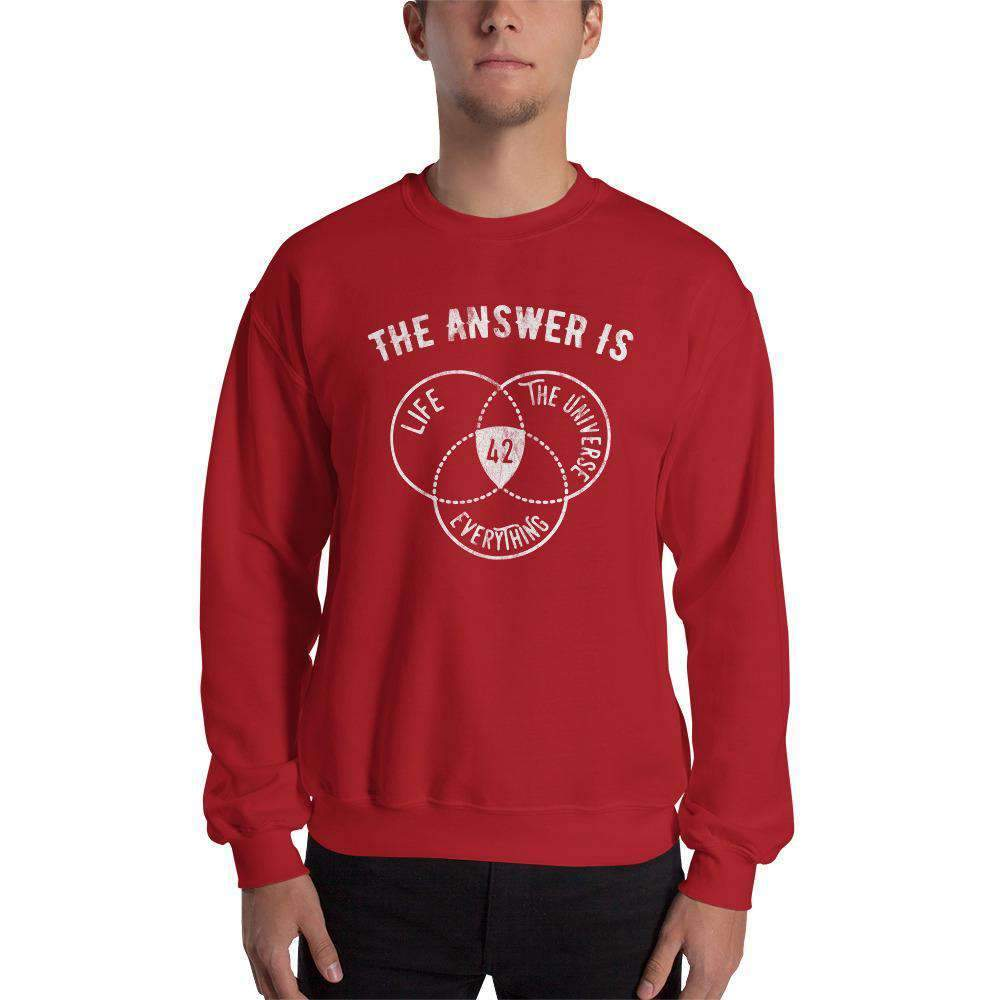 The Philosopher's Shirt Sweatshirt The Answer Is Always 42