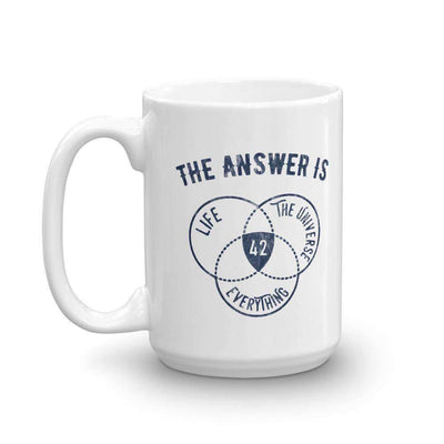 The Philosopher's Shirt Mug The Answer Is Always 42