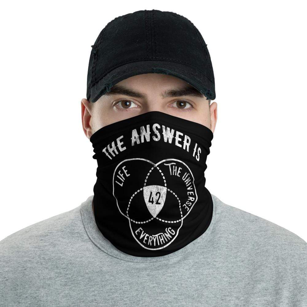 The Philosopher's Shirt Neck Gaiter The Answer Is Always 42 <br><br>Neck Gaiter