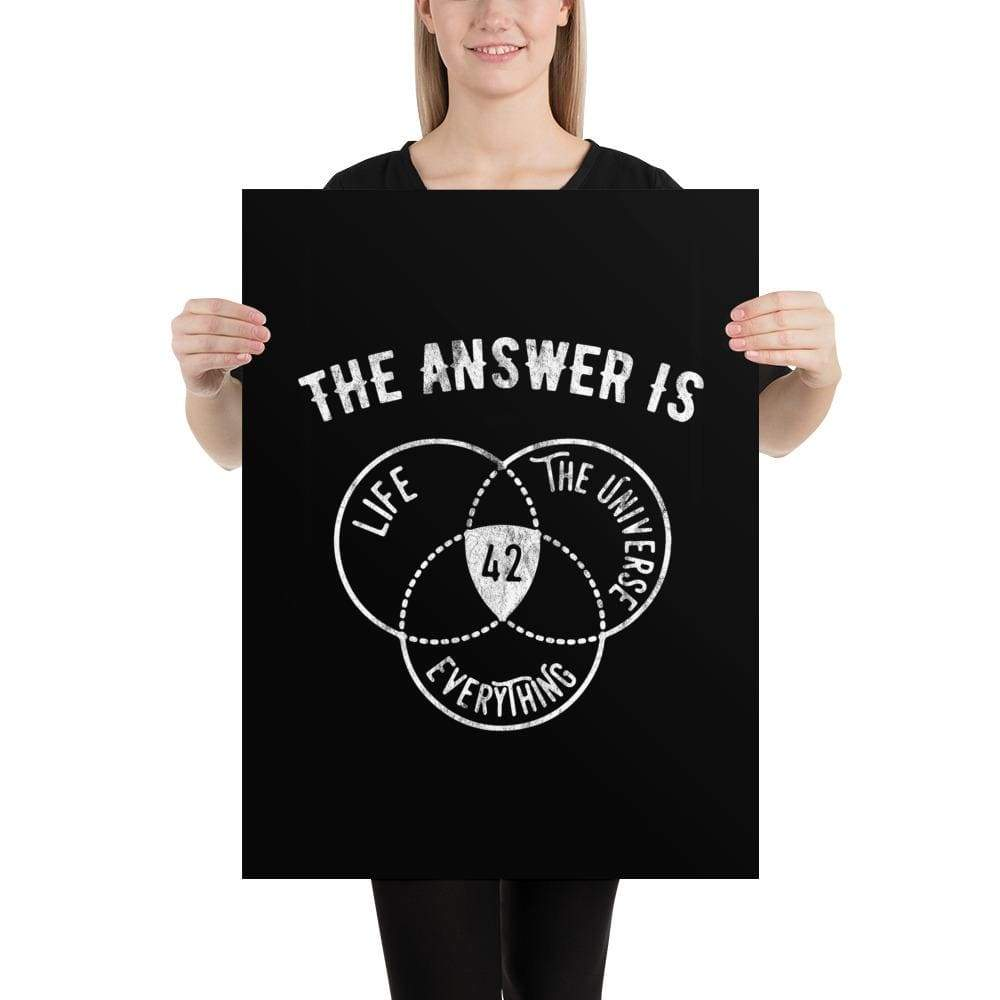 The Philosopher's Shirt Poster The Answer Is Always 42 <br><br>Poster