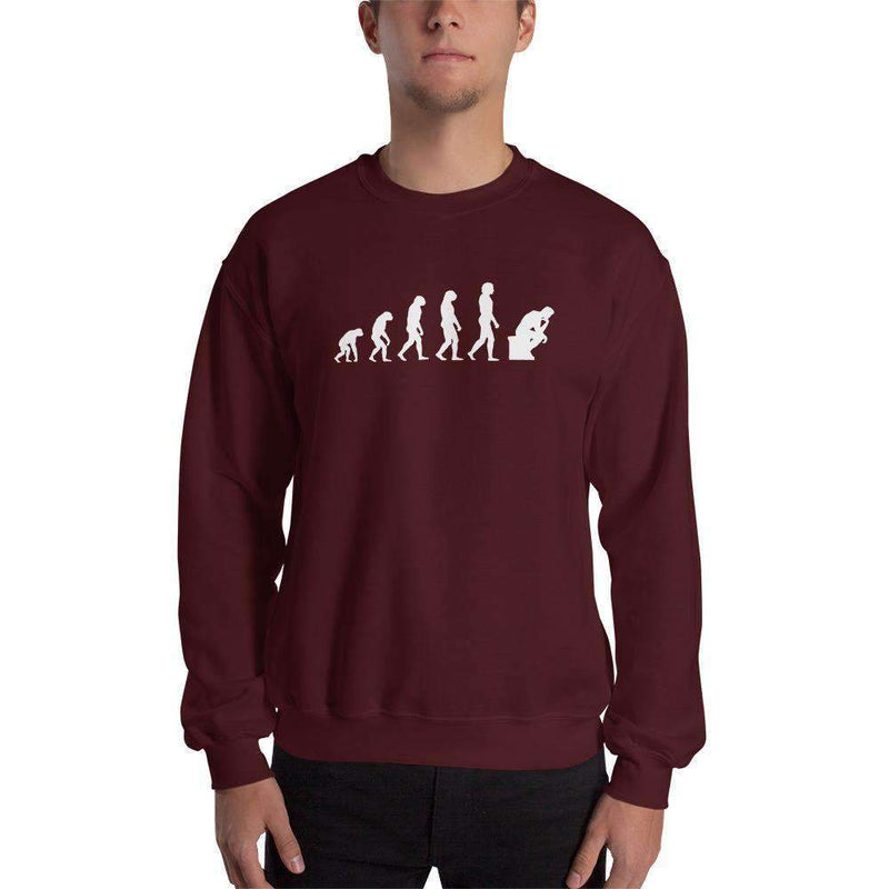 The Philosopher's Shirt Sweatshirt The Thinker Evolution