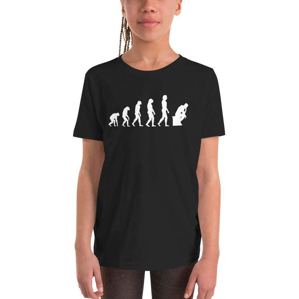 The Philosopher's Shirt Kids Shirt The Thinker Evolution