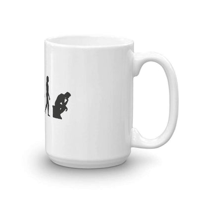The Philosopher's Shirt Mug The Thinker Evolution