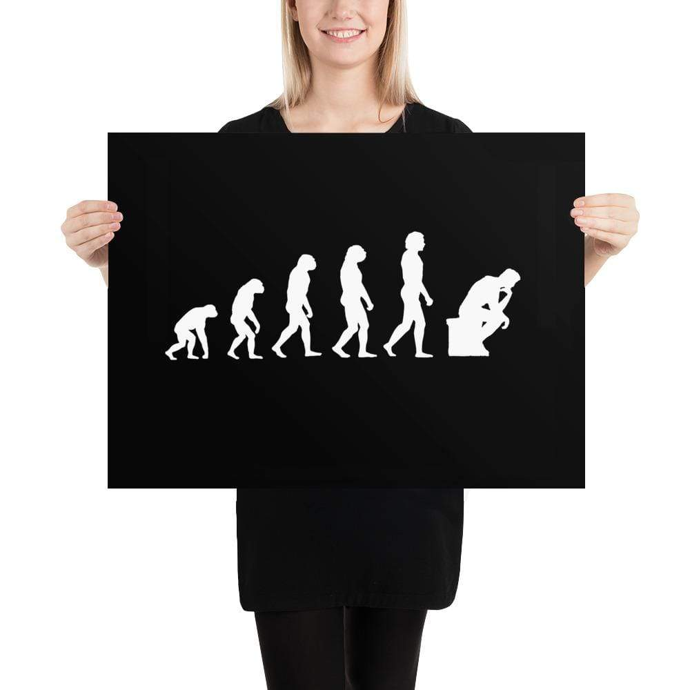 The Philosopher's Shirt The Thinker Evolution <br><br>Poster