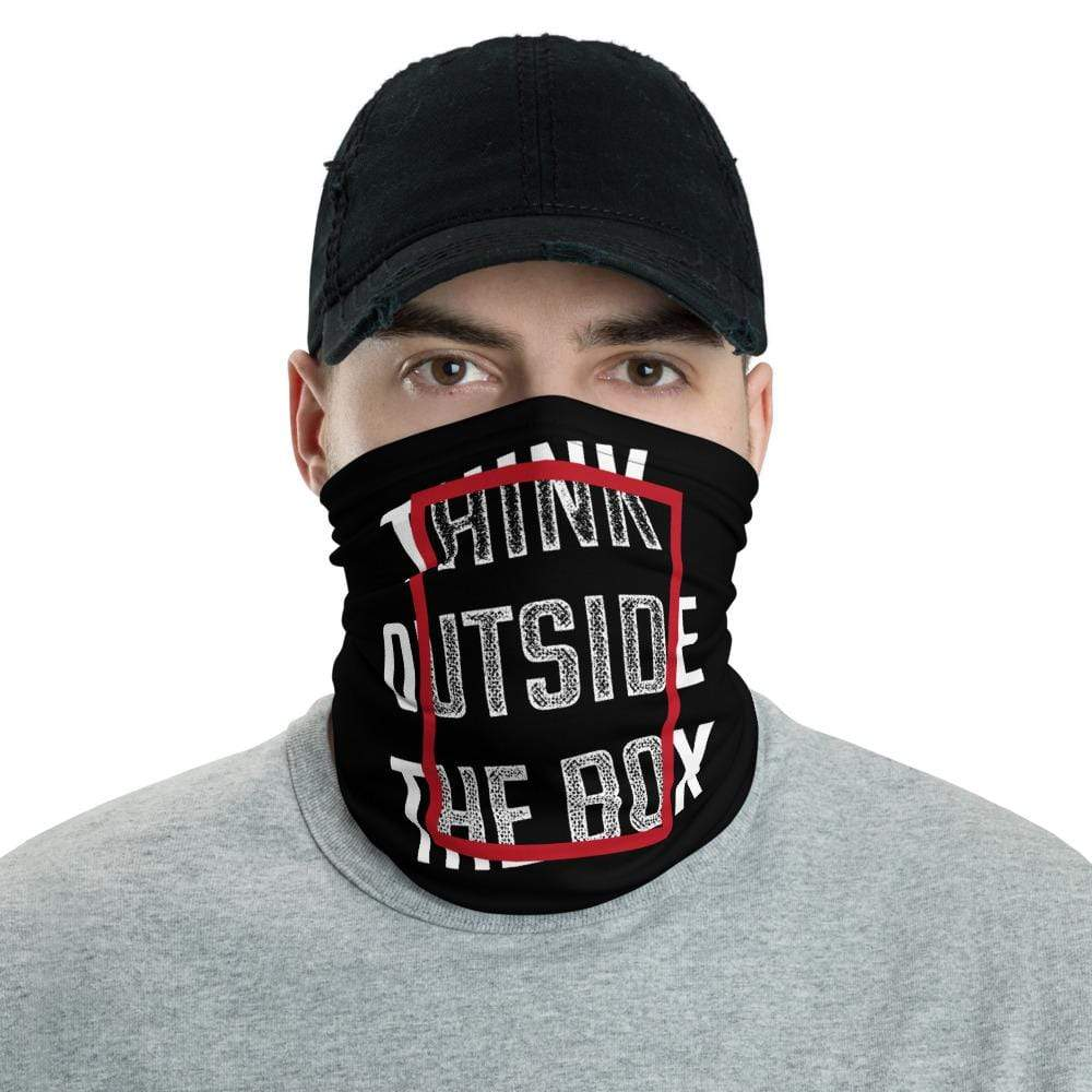 The Philosopher's Shirt Neck Gaiter Think Outside The Box <br><br>Neck Gaiter