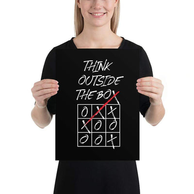 The Philosopher's Shirt Poster Think Outside The Box <br><br>Poster