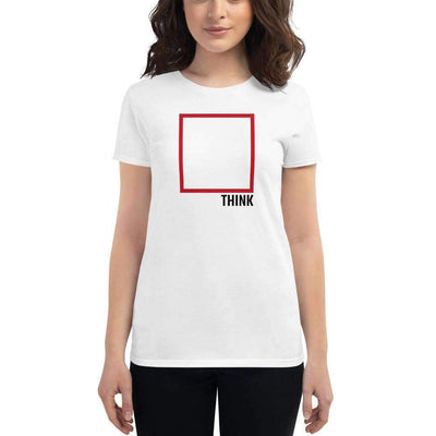 The Philosopher's Shirt Women's T-Shirt Think Outside The Box - Minimal Edition