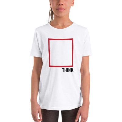 The Philosopher's Shirt Kids Shirt Think Outside The Box - Minimal Edition
