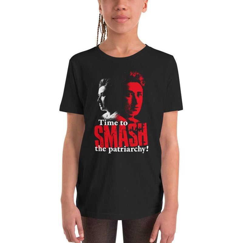 The Philosopher's Shirt Kids Shirt Time to SMASH the patriarchy! by Rosa Luxemburg <br><br>Kids T-Shirt