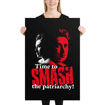 The Philosopher's Shirt Time to SMASH the patriarchy! by Rosa Luxemburg <br><br>Poster