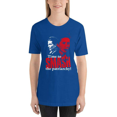 The Philosopher's Shirt Unisex Basic T-Shirt Time to SMASH the patriarchy! by Simone de Beauvoir <br><br>Unisex Basic T-Shirt