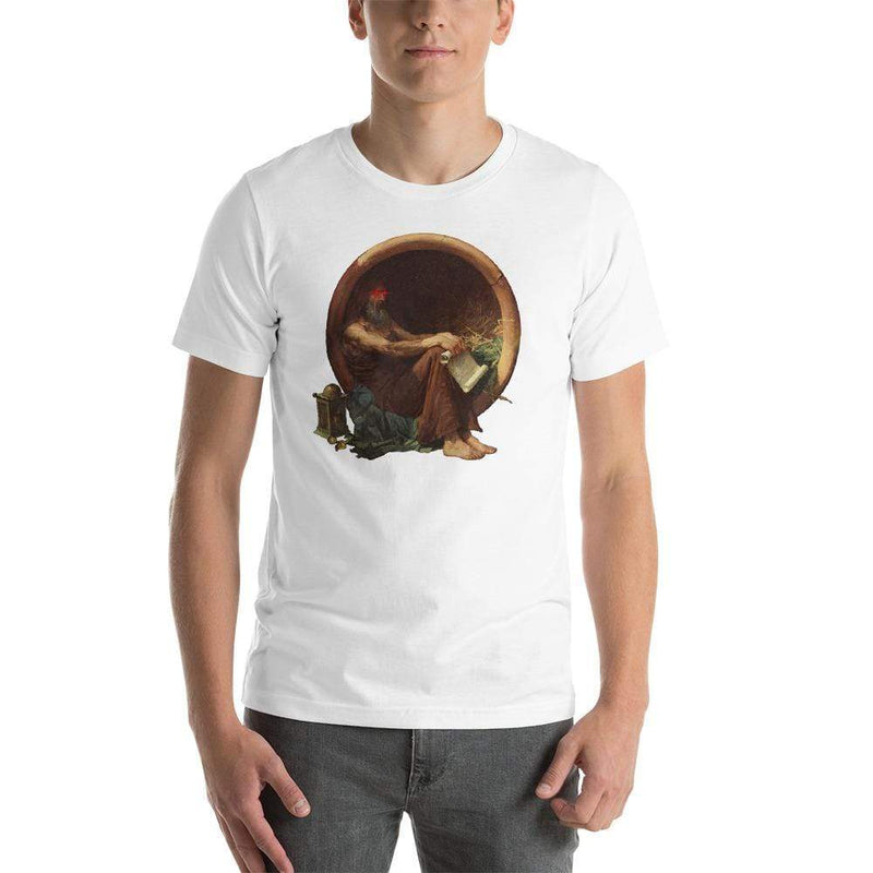 The Philosopher's Shirt Discounted - Regular T-Shirt Triggered Diogenes <br><br> Unisex Premium T-Shirt White / L - Discounted