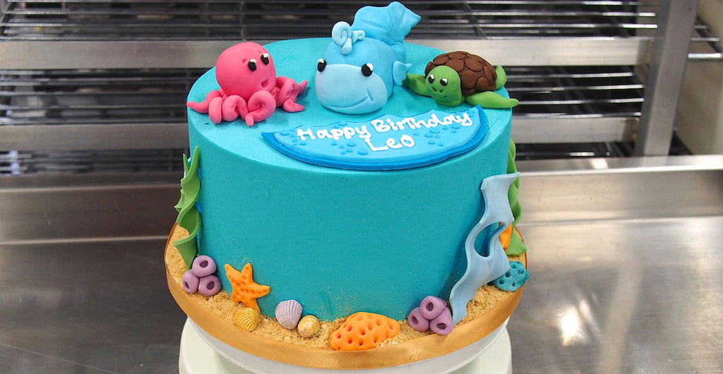 Prime Under The Sea Birthday Cake Crumbs Doilies Funny Birthday Cards Online Eattedamsfinfo