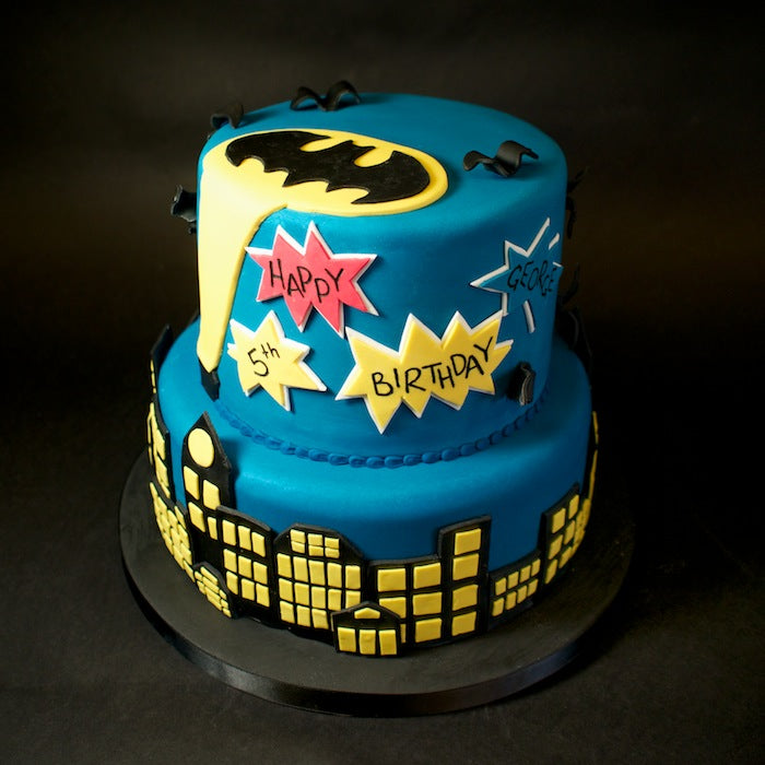 Holy Birthday Baking Batman Heres A Look At Cool Cake We Did For Georges 5th Party Featuring The Gotham Skyline