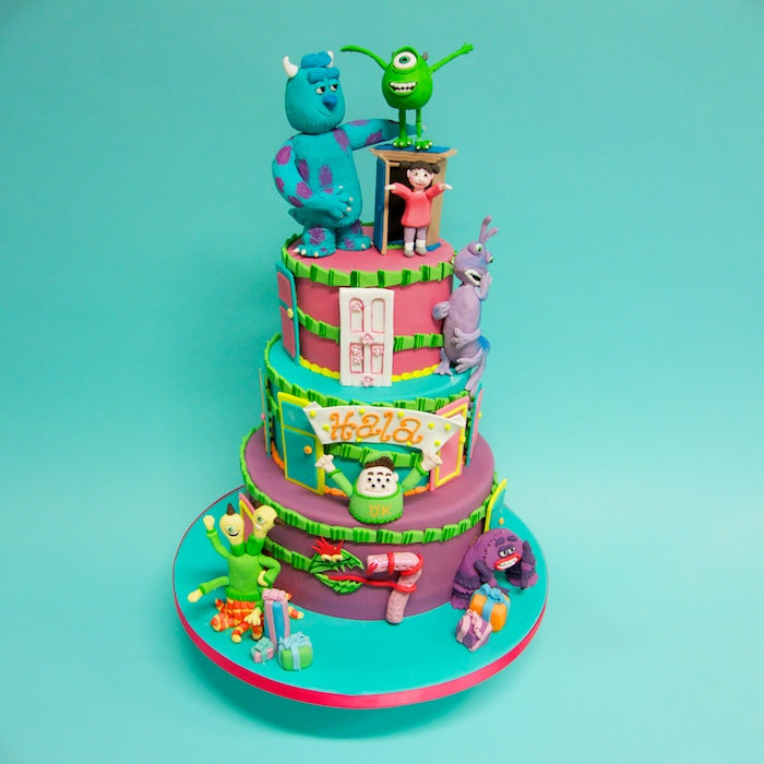 Remarkable Monsters Inc Cake Crumbs Doilies Personalised Birthday Cards Veneteletsinfo