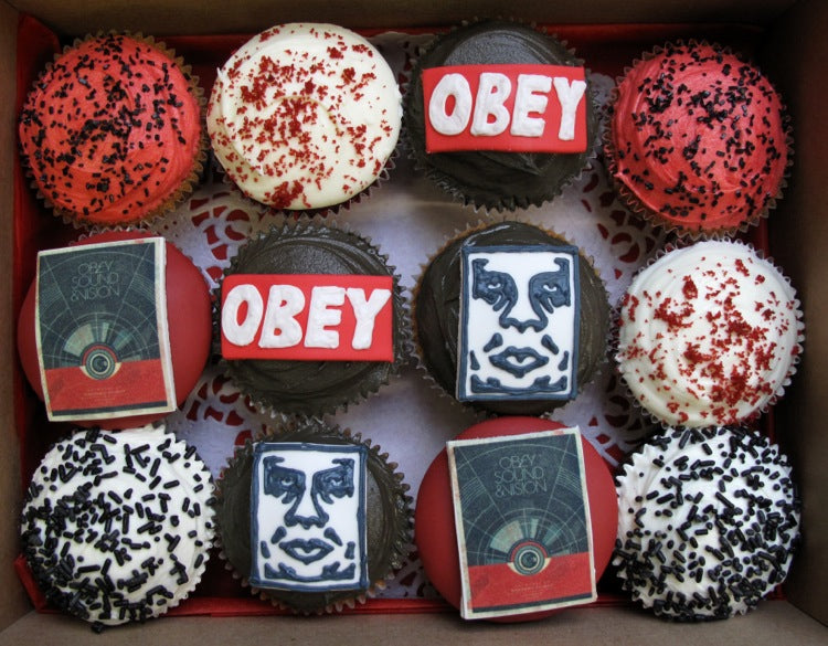 Obey cupcakes