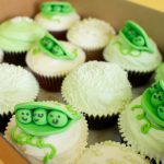 Peas in a pod cupcakes