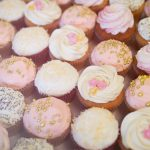 Pink & Cream wedding cupcakes