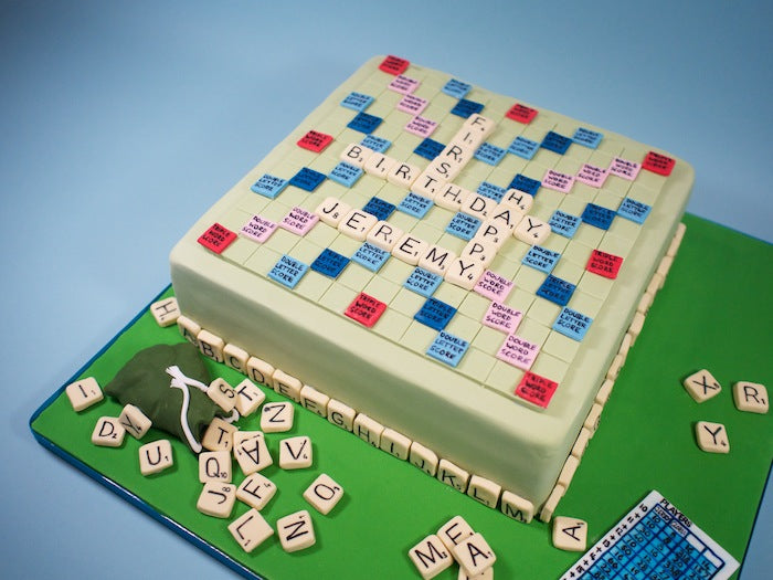 Another Great Scrabble Cake Crumbs Doilies