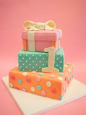 Stacked present cake 4