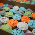 Colour-matched corporate cupcakes