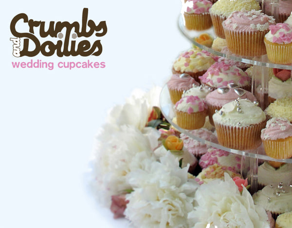 Crumbs and Doilies wedding cupcakes brochure