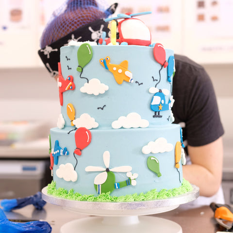 Super Helicopter Birthday Cake Crumbs Doilies Funny Birthday Cards Online Fluifree Goldxyz