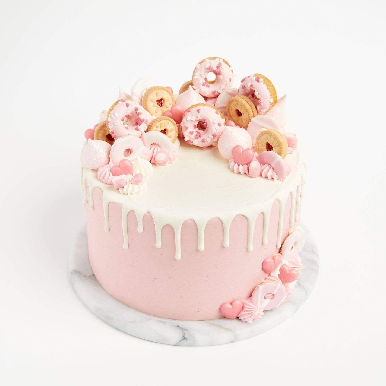 Awe Inspiring Pretty In Pink Cake Baked To Order Crumbs Doilies Funny Birthday Cards Online Overcheapnameinfo