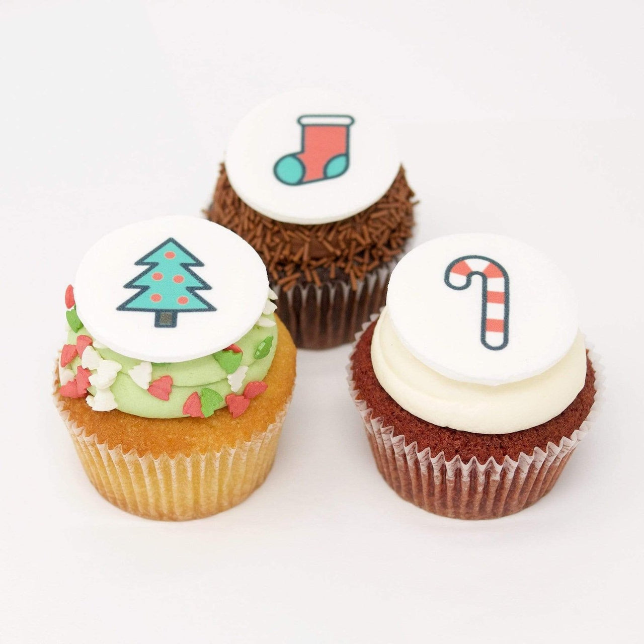 Christmas Cupcakes with Logos by Crumbs & Doilies
