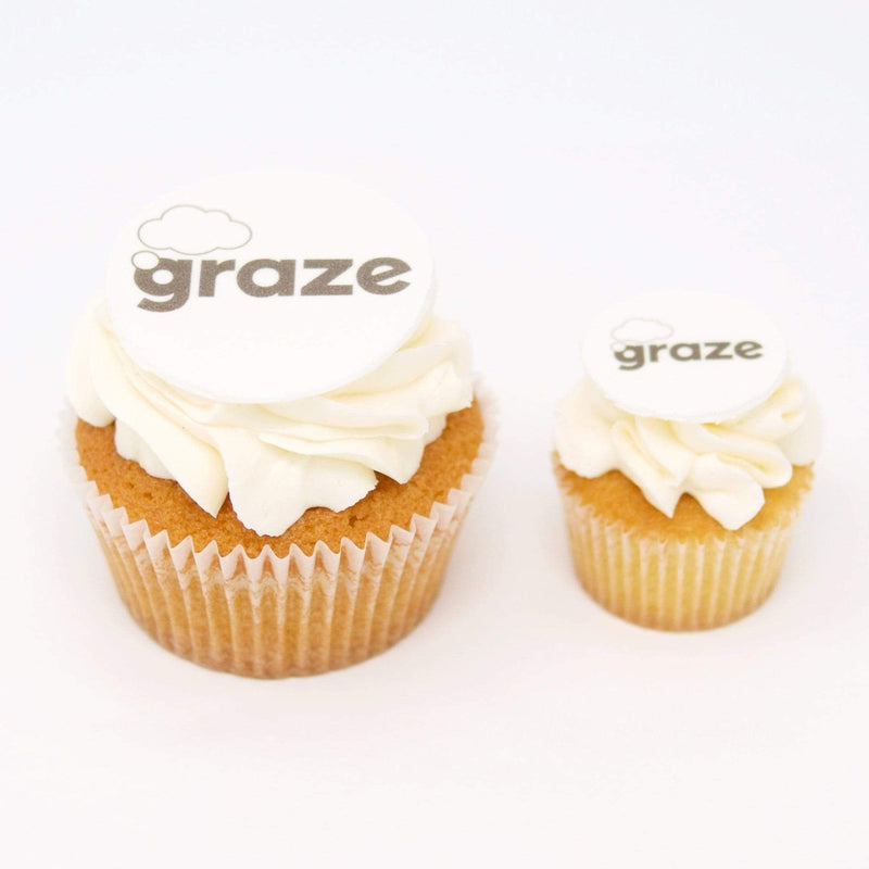 Gluten-Free Cupcakes with logo