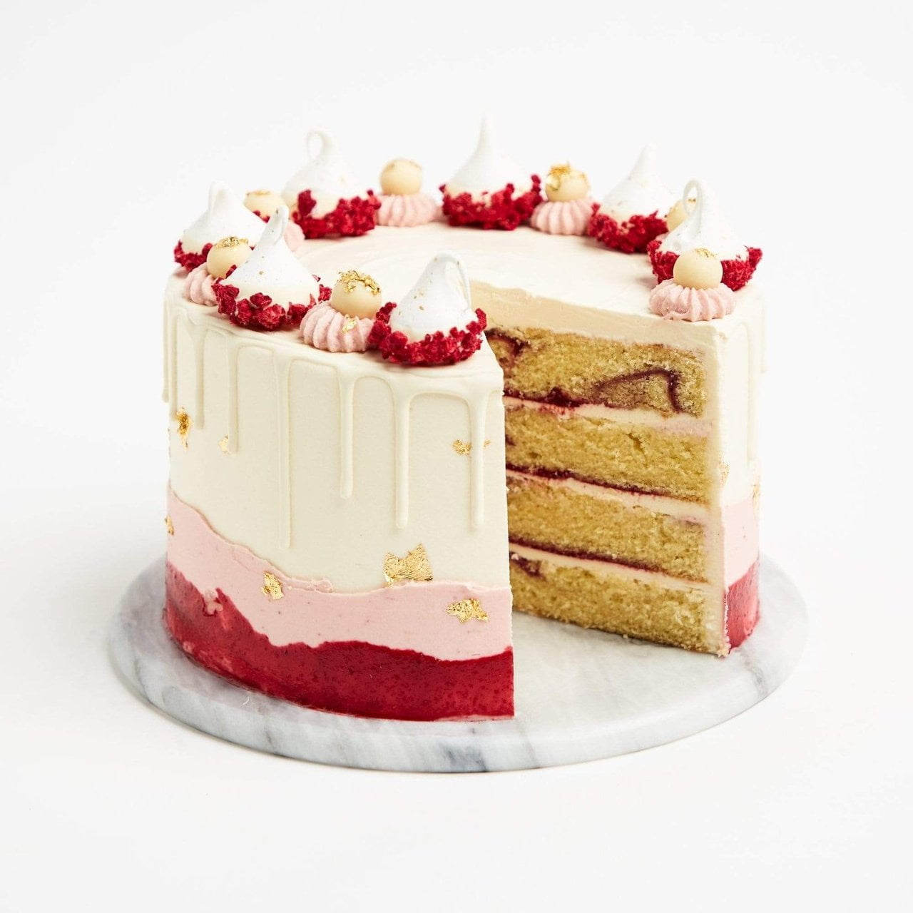 Raspberry & White Chocolate Cake