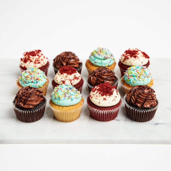 Vanilla, Chocolate & Red Velvet Cupcakes