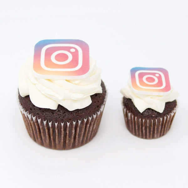 Chocolate Cupcakes with logo by Crumbs & Doilies
