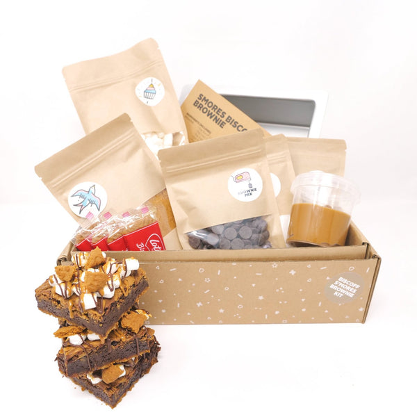 "Cupcake Jemma Including 7"" Tin Biscoff S'Mores Brownie Baking Kit"