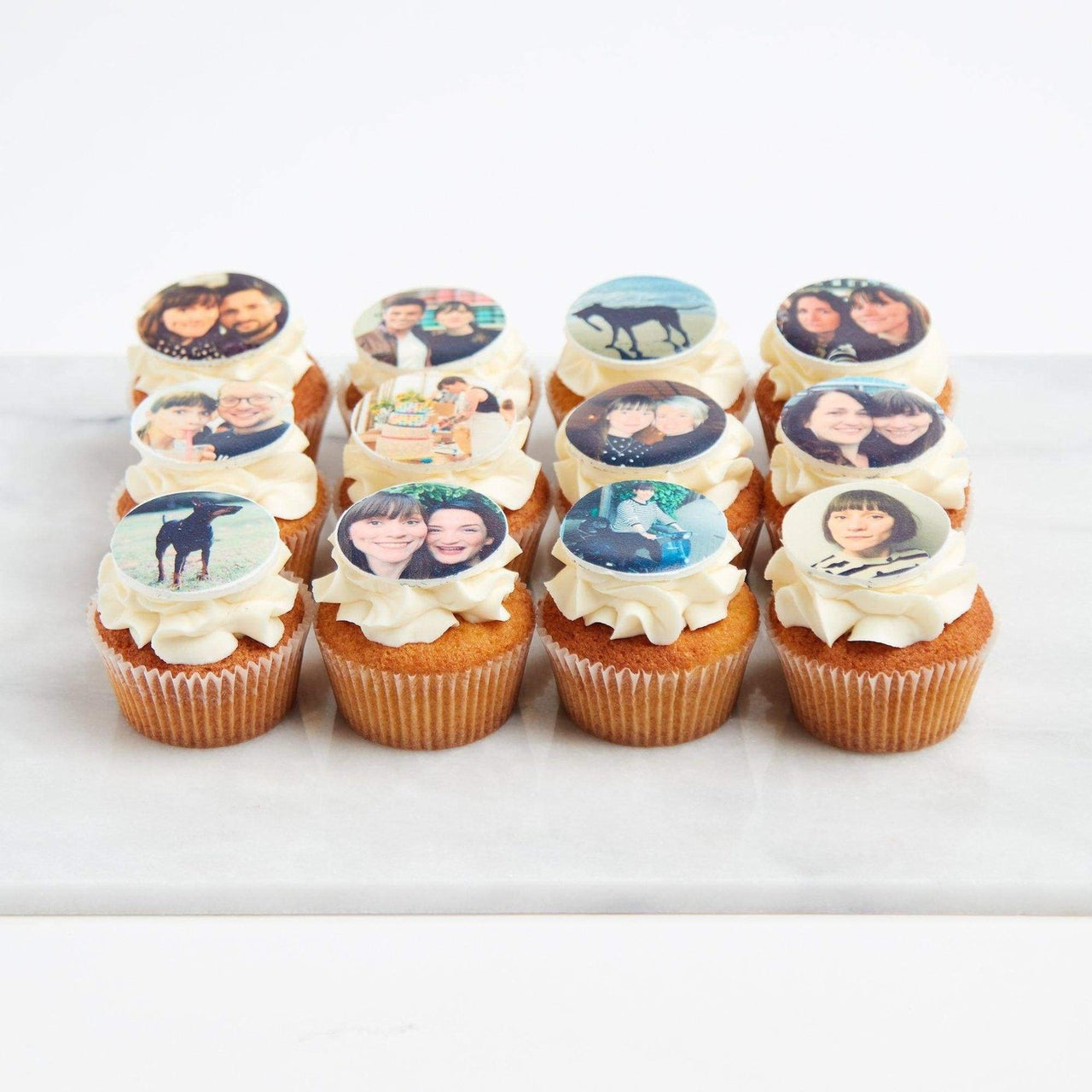 Edible Photo Cupcakes by Crumbs & Doilies