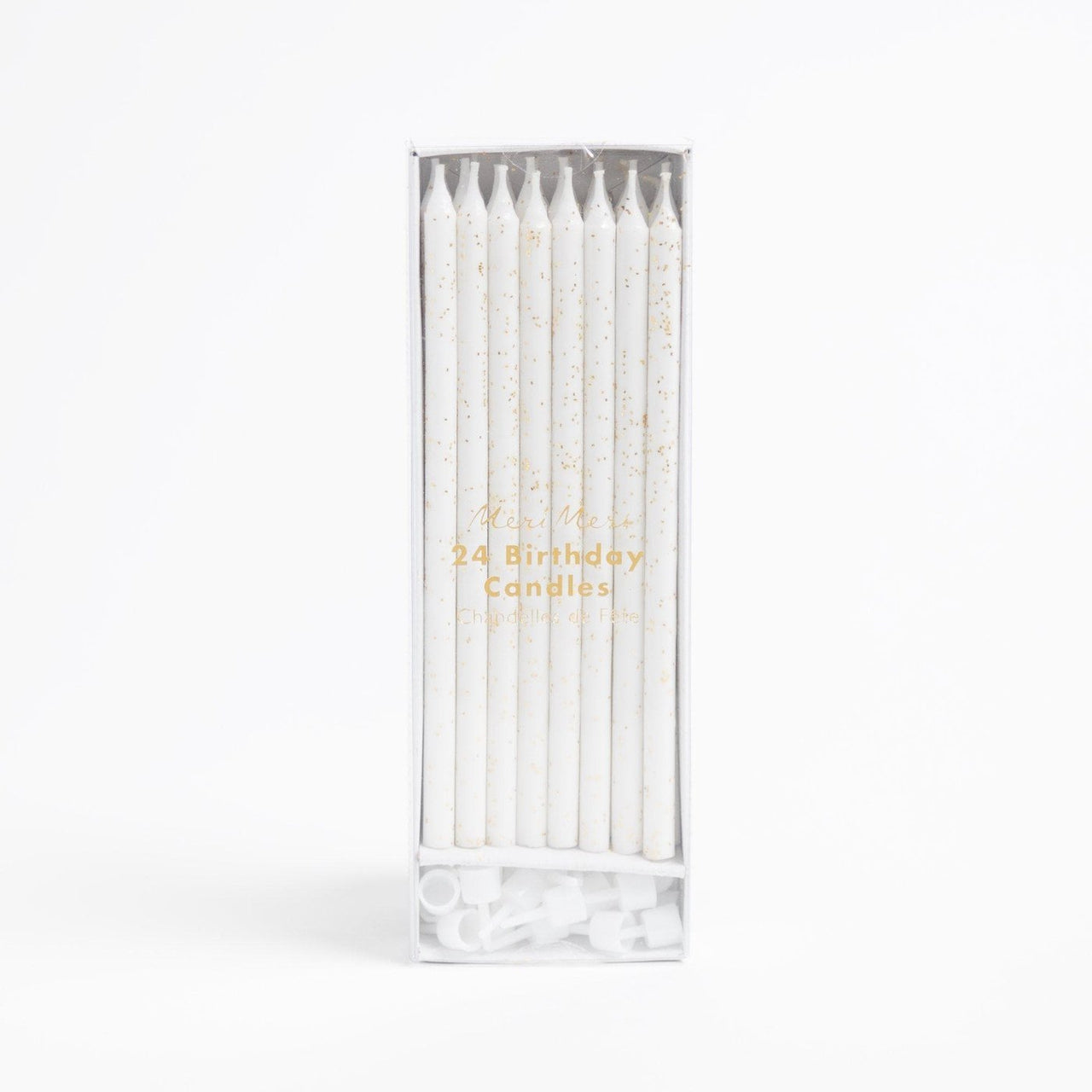 Gold glitter candles by Crumbs & Doilies