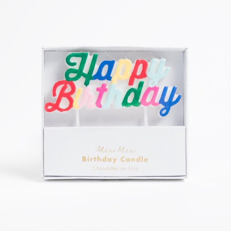 Happy Birthday candle (multi-colour)
