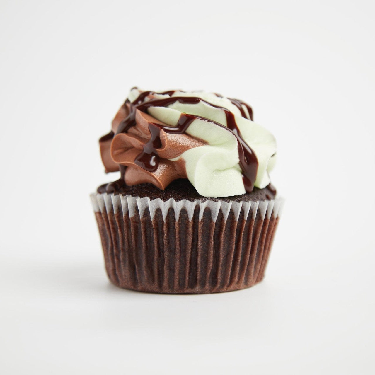 Mint Choc Chip Cupcakes by Crumbs & Doilies
