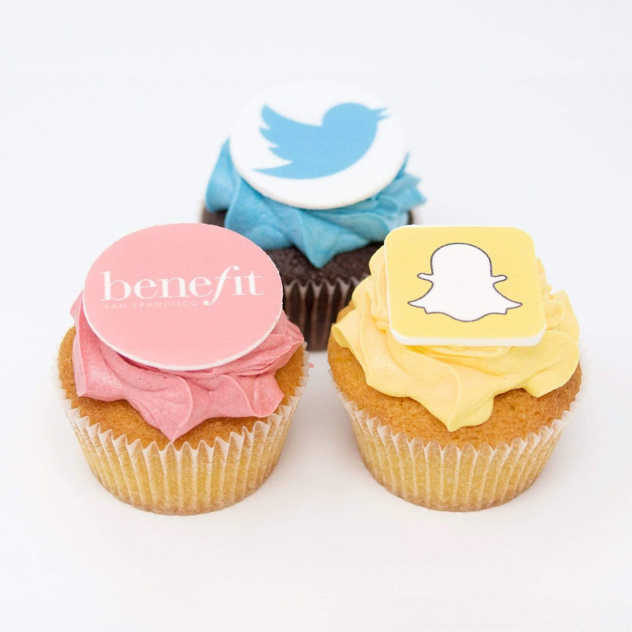 Colour Matched Cupcakes with logos