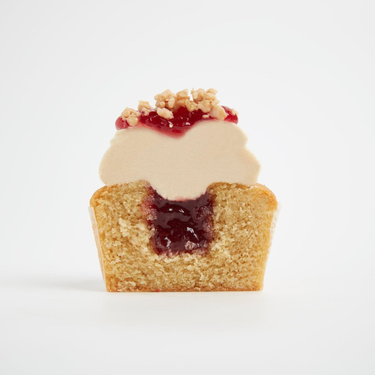 PB&J Cupcakes by Crumbs & Doilies