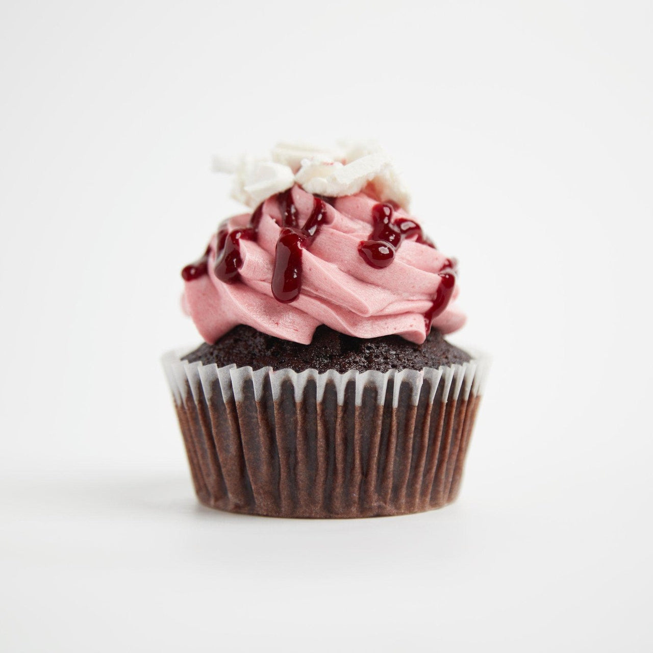 Raspberry Bombe Cupcake by Crumbs & Doilies