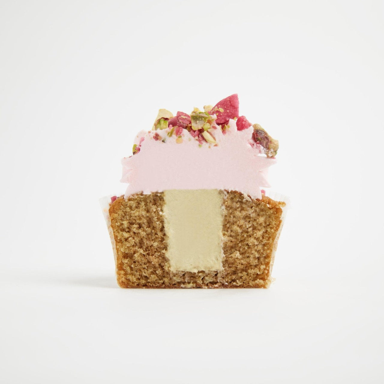 Gluten-Free Rose & Pistachio Cupcakes by Crumbs & Doilies