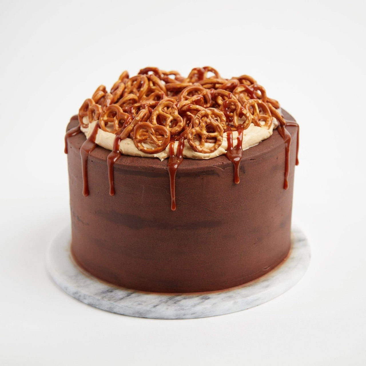 Salted Caramel Pretzel Cake by Crumbs & Doilies