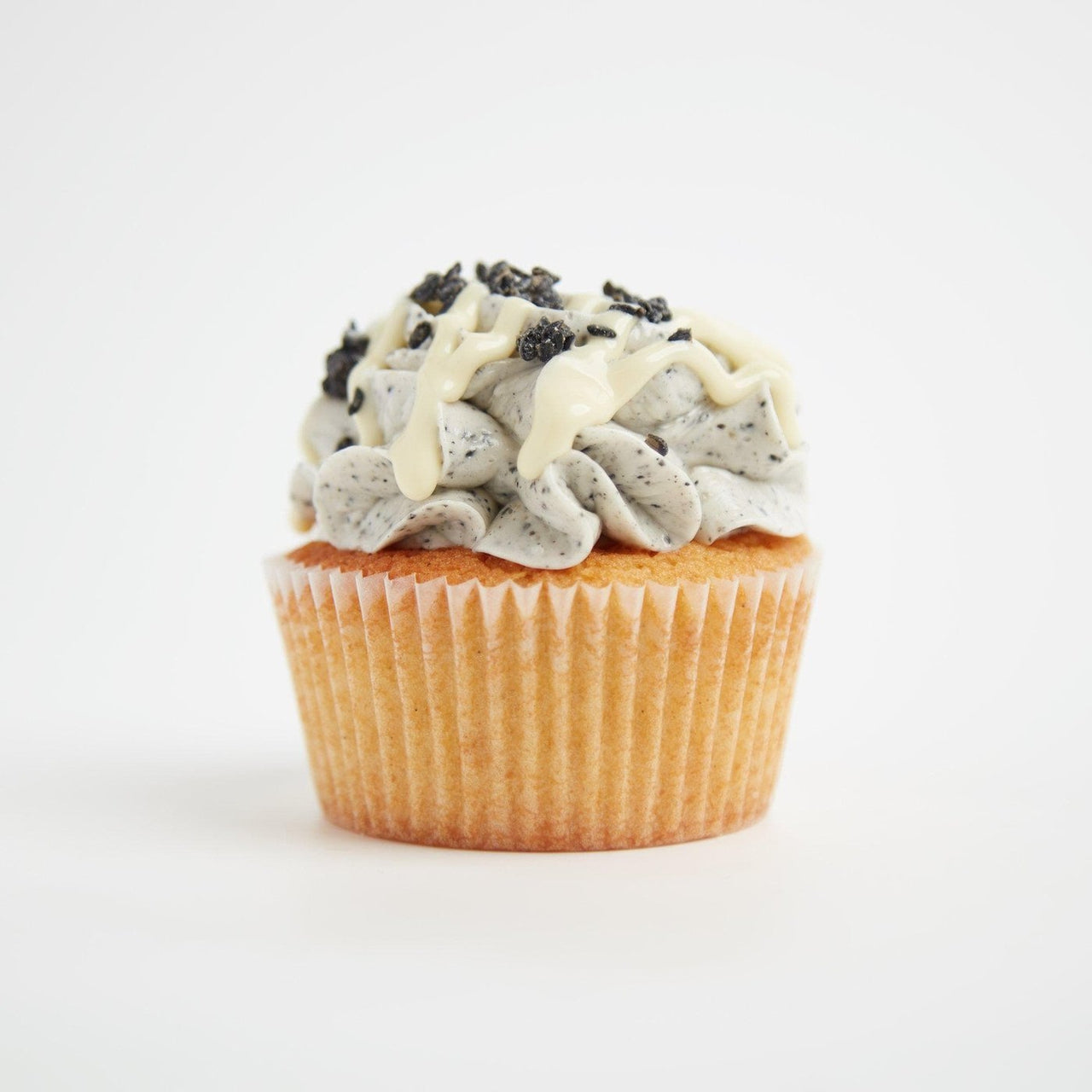 Sesame White Chocolate Cupcakes by Crumbs & Doilies