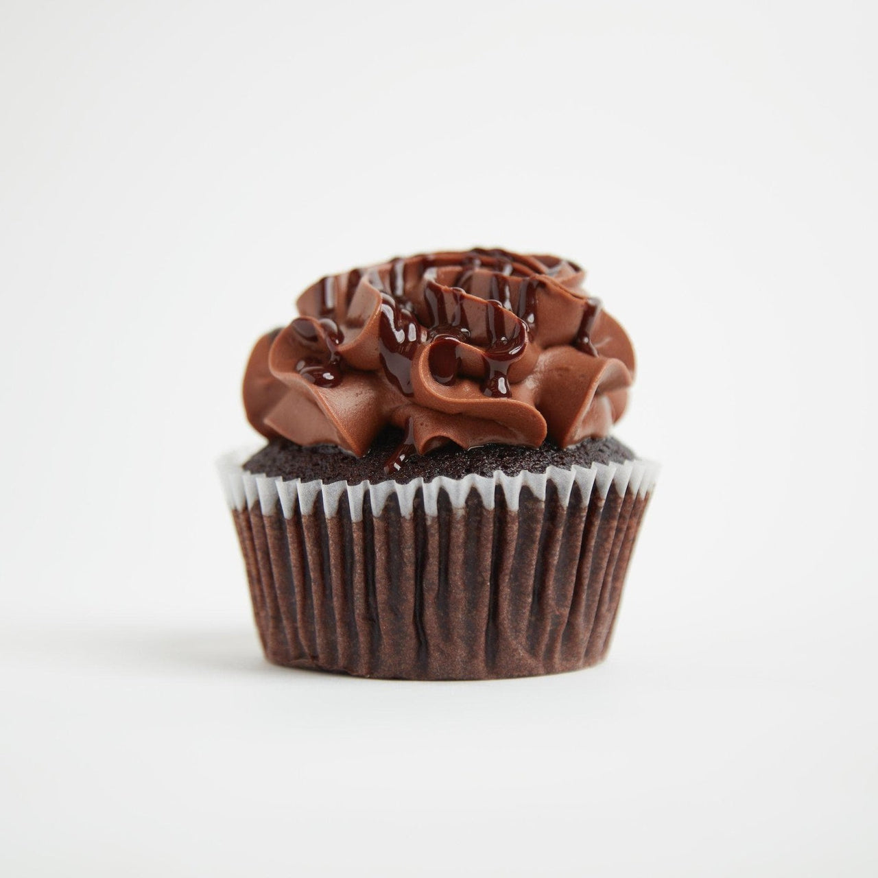 Triple Chocolate Cupcakes by Crumbs & Doilies