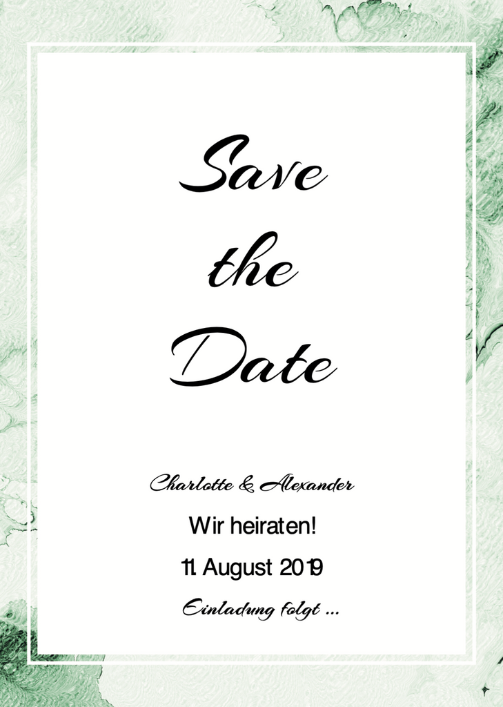 Greenery Summer | Printable DIY Save the Date Karte