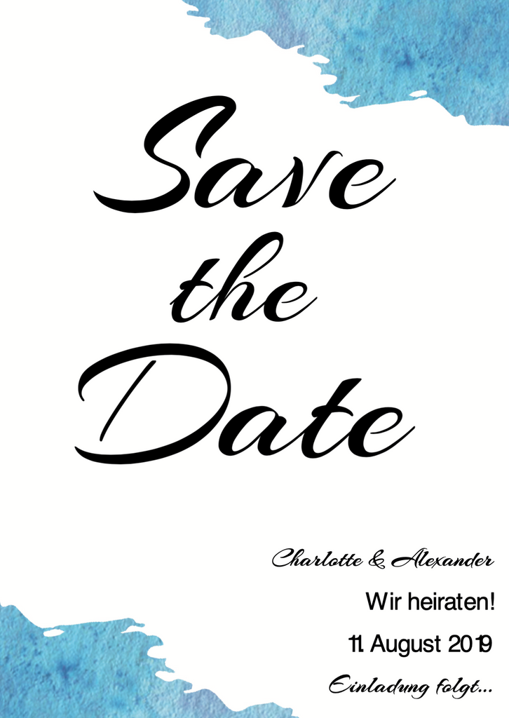 Ocean Vibes | Printable DIY Save the Date Karte