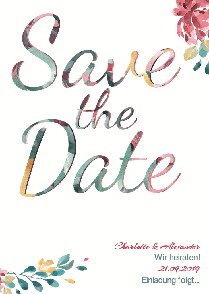 Spring Time | Printable DIY Save the Date Karte